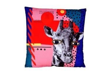 Porland Wild Life Zürafa Yastık 45*45 Renkli